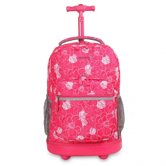 Pink School Trolley Backpack